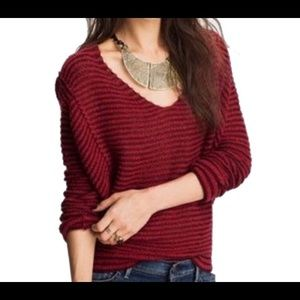 Free People Burgandy Sweater, Size Small